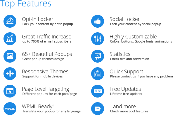 Ninja Popups  - top features ninja popups - Popup Plugin for WordPress – Ninja Popups
